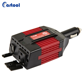 ETL UL Approved 75w High Frequency Isolated Car Power Inverter 12v ac 110v