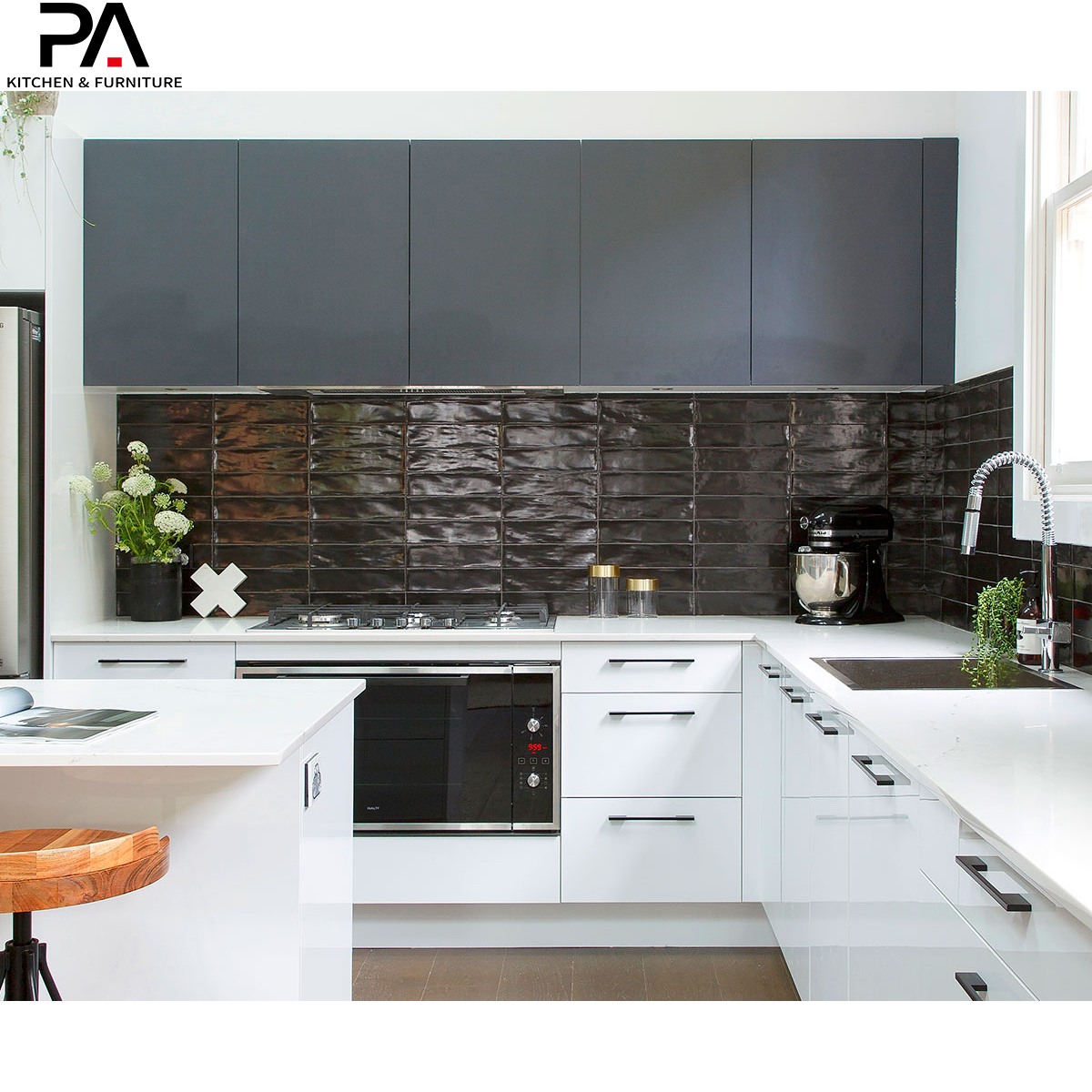 Customized Foshan Manufacturers Modern Modular White High Gloss Lacquer 2pac Poly Kitchen Cabinet View High Gloss Lacquer Kitchen Cabinet Doors Pa