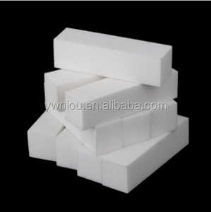 White Nail Art Manicure Pedicure nail buffer block