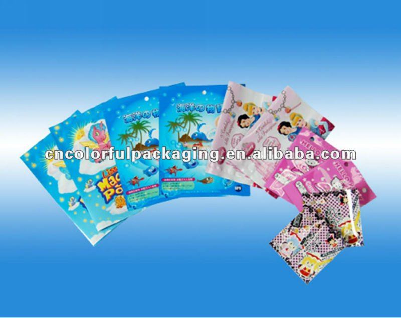 wholesale Children liking toys OPP/PE Custom Printed Good Looking Toys Packaging Pouch