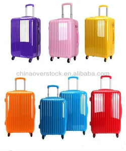 Colourful ABS PC Luggage 3PCS ABS PC Trolley Luggage Set