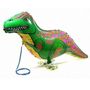 TOOGOO(R)Green Walking Pet Balloon Animal Airwalker Foil Balloon Helium Kids Children Fun Party Decors Dinosaur