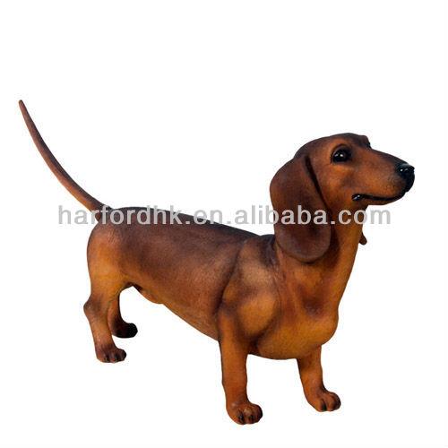 Gigante a grandezza naturale bassotto cane in fibra di for Piani di fattoria a grandezza naturale