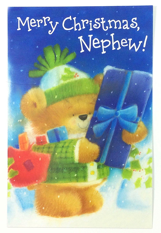 Christmas Card Nephew(Merry Christmas, Nephew!...)By American Greetings pk of 2