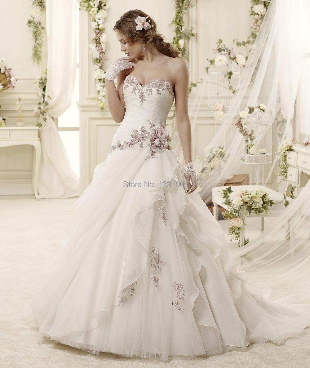 2016 Romantic Vintage Wedding Dress Plus Size Ball Gown