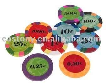 12 star 10gram real clay poker chips no metal insert - Clay Poker Chips
