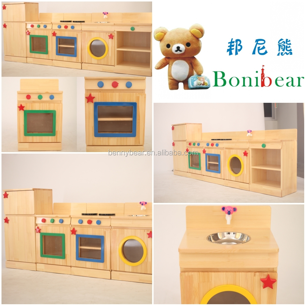 Children Wooden Role Play Kitchen Furniture Toy Buy