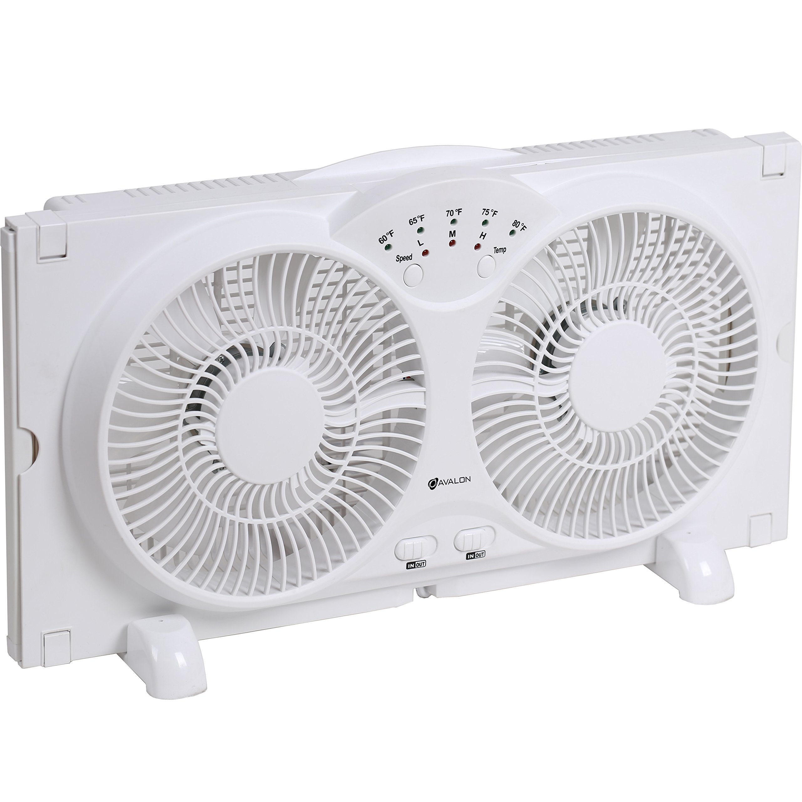 Get Quotations Genesis Twin Window Fan With 9 Inch Blades High Velocity Reversible AirFlow LED