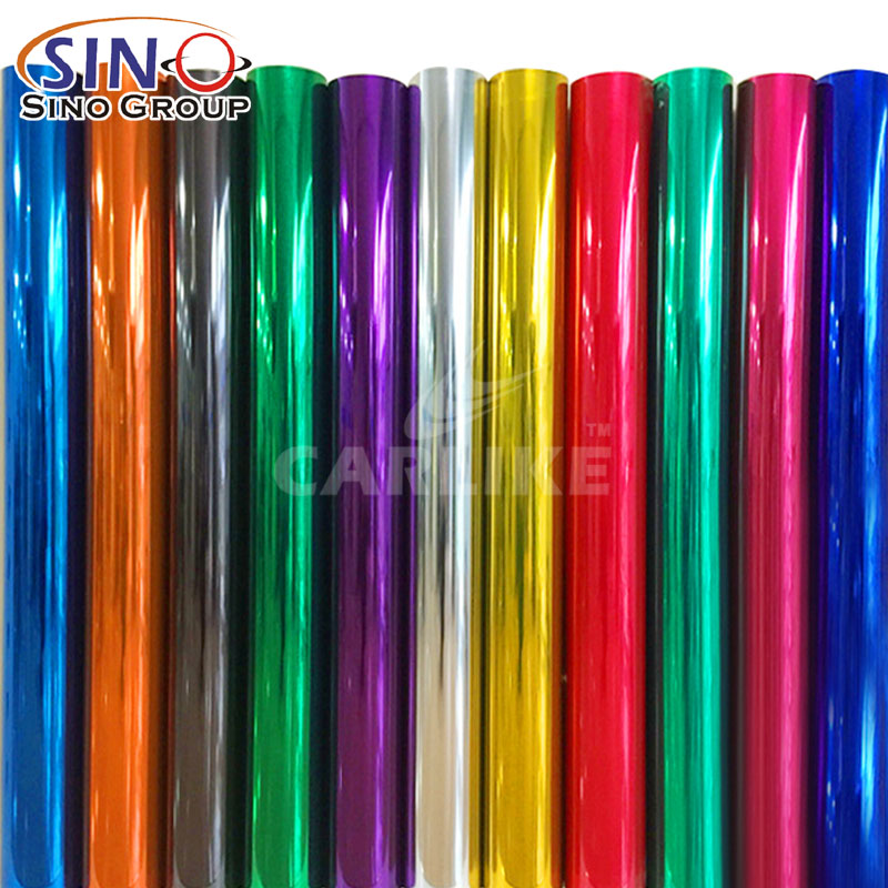 CARLIKE High Temperature Adhesive Chrome Car Vinyl Wrapping