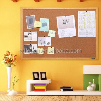 Shunde Customized Size Modern Cheap Mdf Wood Office Cork Soft Board Cool Soft Board Decoration Design