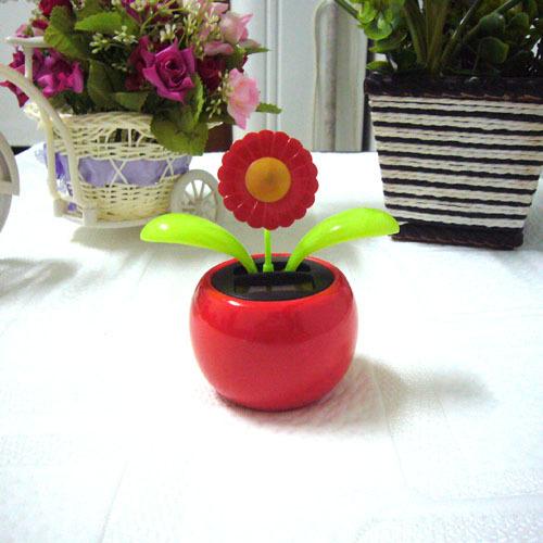 e61ba5d978b1b8 Get Quotations · Swing Ceaselessly No Battery Under Full Light Flower Top Solar  Flower Flip Flap Novelty Solar Dancing