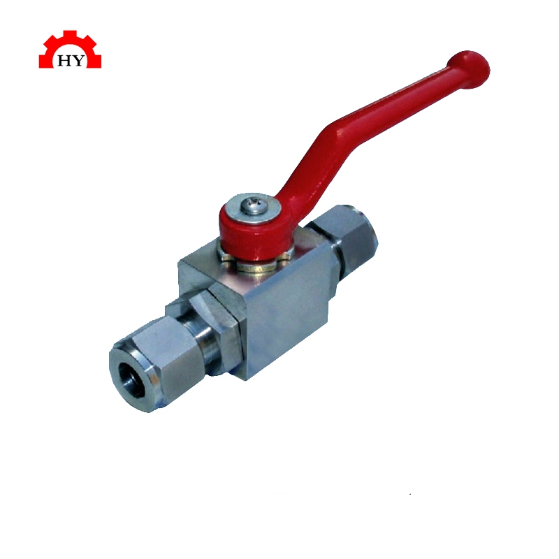Stainless steel 2 Way high pressure female thread hydraulic ball valve