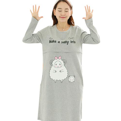 680ada36cecaa Get Quotations · Fall Casual Long Sleeve Maternity Breastfeeding Nursing  Dresses Clothes Plus Size Pregnant Women Feeding Vestidos Dress