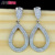 New style White gold plating Cubic Zirconia Diamond Luxury Earrings