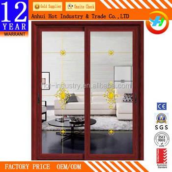 China Supplier Kitchen Cabinet Aluminum Frame Glass Sliding Front