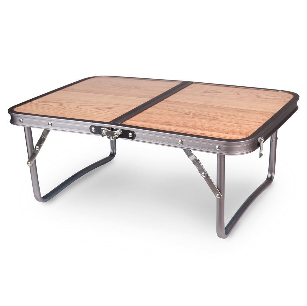 Get Quotations · Adjustable Small Low Wood Portable Table Camping Table /  Beach Table/Folding Table For Beach