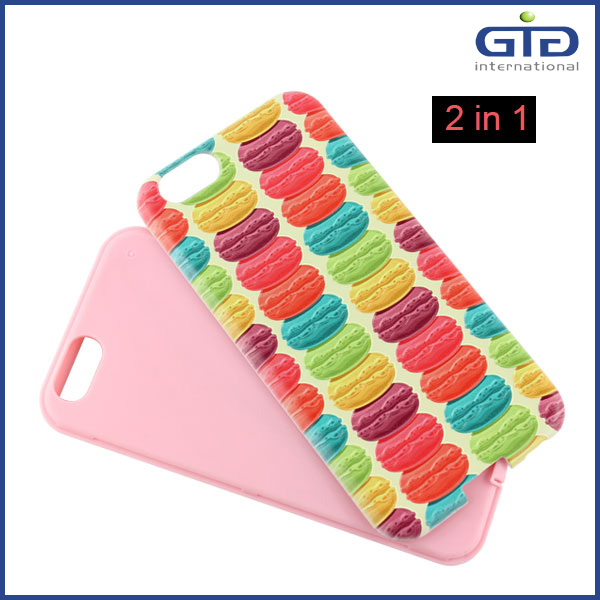 2 in 1 with 3D Pattern for iPhone 6 Cell Phone Cover
