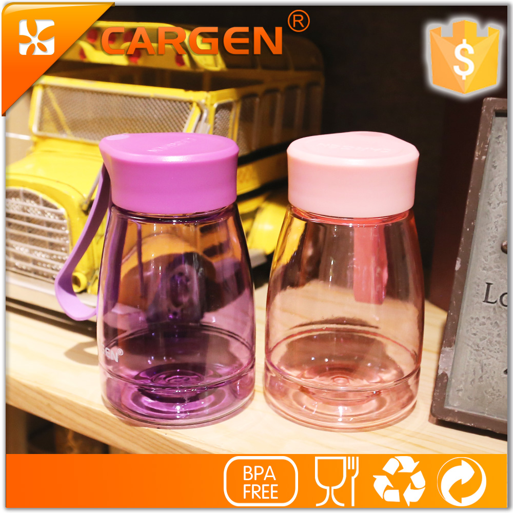 Mini design bpa free 350ml kids clear plastic drinking water bottle