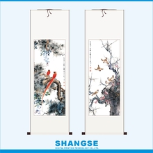 Vintage Home Decor Chinese Classical Calligraphy Painting Antique Home Decoration Items