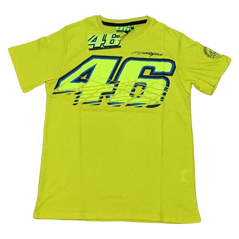 2016 новую одежду 100% хлопок MOTOGP майка луна росси VR46 футболка летние мотоцикла гоночная команда футболка свободного покроя спорта майка