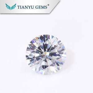 Wholesale Wuzhou Gems Synthetic 100 facets AAA Quality Clear Color Fire CZ Cubic Zirconia Rough Gems
