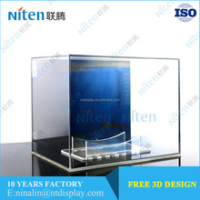 Soccer ball basketball stand acrylic display case