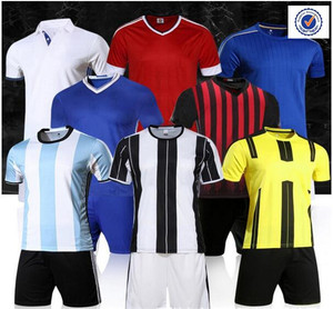 Wholesale custom blue and white soccer uniforms