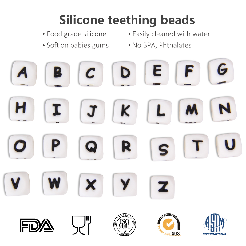 silicone letter beads for necklace silicone letter beads for necklace suppliers and manufacturers at alibabacom