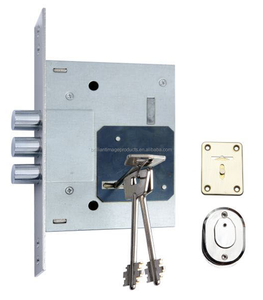 High security safety key hole round bolt lock, mortise lever lock 257L, 60 backset