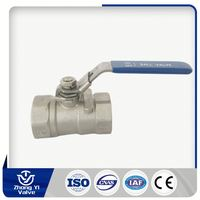 Manual Operated Casting stainless steel 1/2 inch ball valve with handle