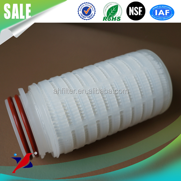 PP N6 PVDF PTFE PES Microporous Membrane Pleated Filter Cartridges food grade