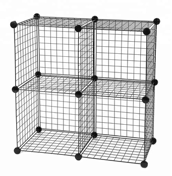 Metal Wire Storage Cubes Modular Shelving Grids Cabinet DIY Closet Organization System Bookcase