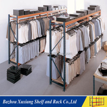 Fashinable y durable clothes display racks stands y racks de almacenamiento