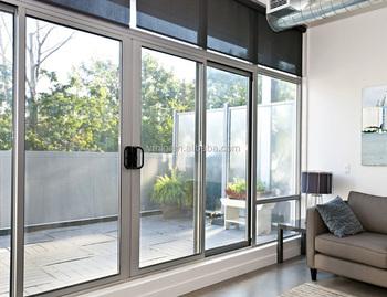 Elegant Design Aluminum Interior Sliding Glass Door For Living Room