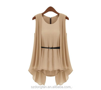 d871fa6b23d3 Wholesale Hot Selling Fashion women Summer Top high Quality Ladies top  Beige O-Neck Sleeveless