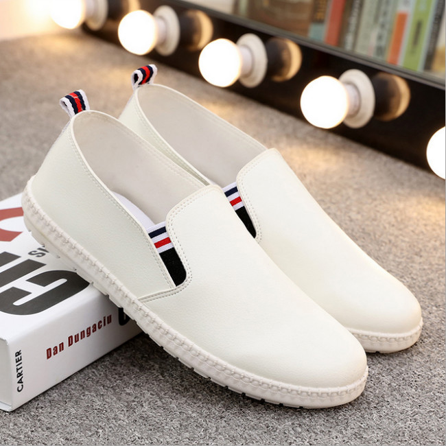 PU leather shoes casual slip on shoes summer men autumn shoes man