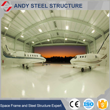Cheap price prefabricated modular steel aircraft hangar for sale