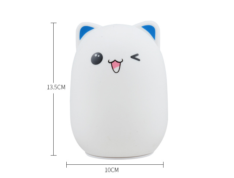 Cute bear animal shaped night light for children led silicone lamp With color changing and rechageable battery