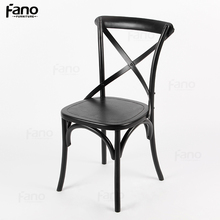wholesale crossback vineyard chairs french black wood cross dining chair