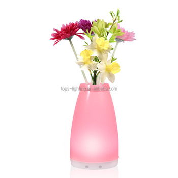 Flower vase table lamp touch sensitive hand blown glass floor lamps flower vase table lamp touch sensitive hand blown glass floor lamps aloadofball Choice Image