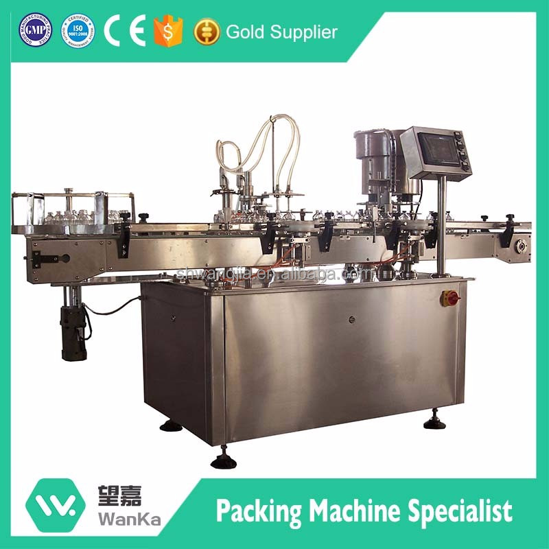Automatic four nozzles piston pump cosmetic cream bottle filling capping machine