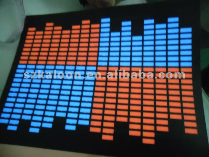 sound activated equalizer el panel