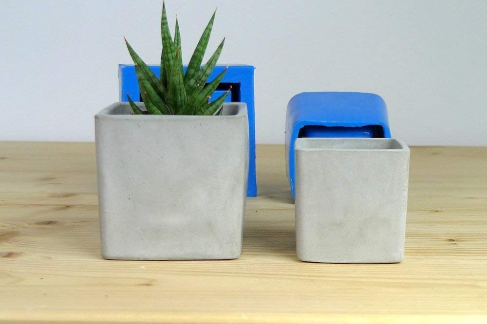 Silicone molds for square planters, set of 2