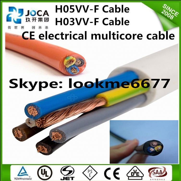 LSZH cable for indoor damp location H03Z1Z1-F wire 2x0.5mm