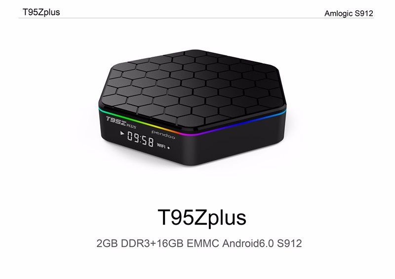 tv tuner box Amlogic s912 T95z pendoo 2g 16g Android 6.0 arabic tv box