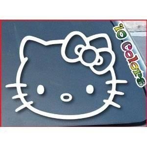b6f4e2365 Window Vinyl Decal Sticker wide 4 of Hello Kitty car