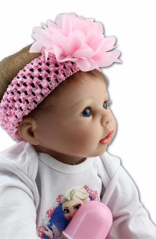 Silicone Reborn Baby Girl Dolls 22 Inch 55cm Realistic