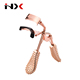 Rose Gold Color Heated Eyelash Curler with Acupressure Style Massage Plastic Handle
