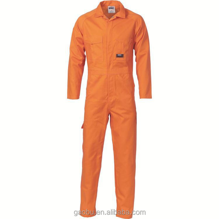 Mens Orange   Boiler suit Coveralls Overalls Mechanic Workwear
