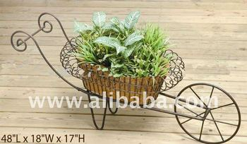 Beau Wheel Barrow Wrought Iron Planter   Buy Planters Stands With Wheels Product  On Alibaba.com
